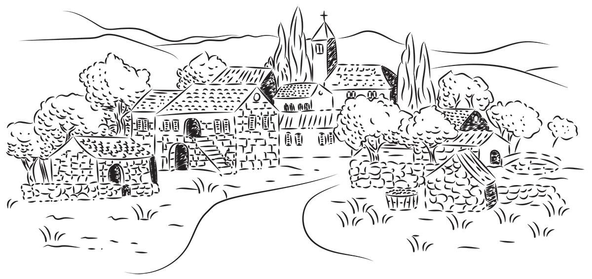 Purex selo ilustracija